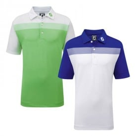 Footjoy Junior Birdseye Colourblock Pique Polo Shirts