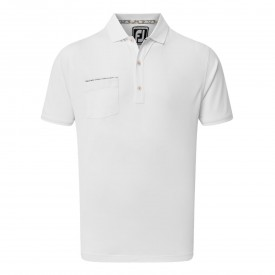 Footjoy Super Stretch Pique with Floral Plant Trim & Knit Collar Polo