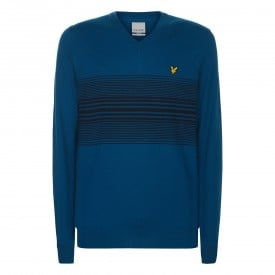 Lyle & Scott Stripe V-Neck Pullover