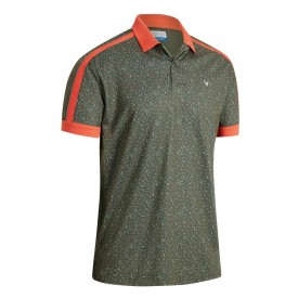 Callaway X All Over Geo Print Polo Shirts