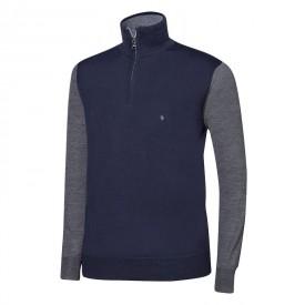 Oscar Jacobson Jerome Pin Half-zip Sweaters