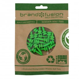 Brand Fusion Biodegradable Wooden Golf Tees