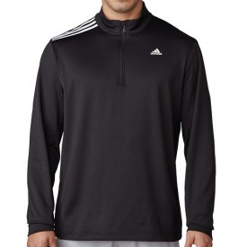 Adidas 3 Stripes French Terry 1/4 Zip Tops