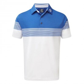 Footjoy Stretch Lisle Gradient Colour Block Polo