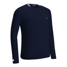 Original Penguin Saddle Shoulder Crew Neck Sweaters