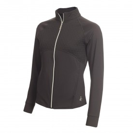 Green Lamb Fianna Long Sleeve Full Zip Quilted Panel Tops