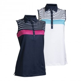 Backtee Ladies Striped Polo Shirts