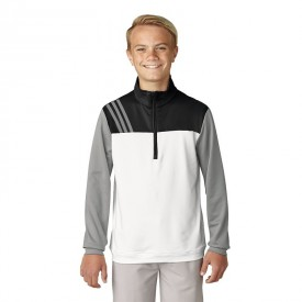 adidas Junior Fashion 3-Stripes Half-Zip Layers