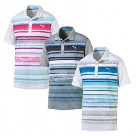 Puma Washed Stripe Polo Shirts