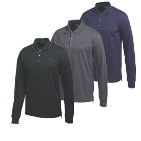 Puma Long Sleeve Solid Polo
