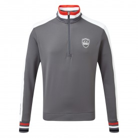 Bunker Mentality Sports Stripe Quarter Zip Mid Layer
