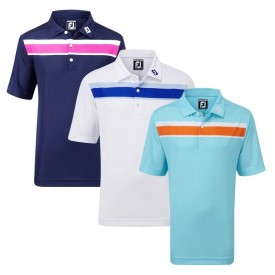 Footjoy Junior Smooth Pique Polo Shirts