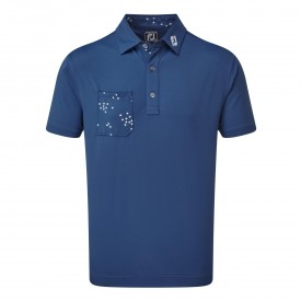 Footjoy Super Stretch Baby Pique with Flock of Bird Print Trim Polo