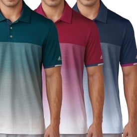 Adidas Climachill Gradient Stripe Polo Shirts