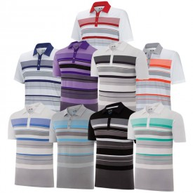 Adidas Climacool Sport Performance Stripe Polos