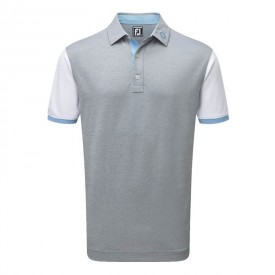 Footjoy Stretch Pique Colour Block & Contrast Trim Polo Shirts