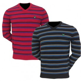 Lyle & Scott V Neck Stripe Pullovers