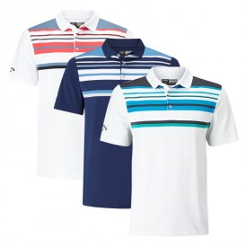 Callaway Engineered Roadmap Striped Polo Shirts
