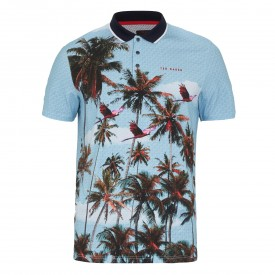 Ted Baker Golf Toney Palm Placement Polo Shirt