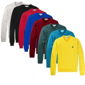 Lyle & Scott Clearance Cotton V-Neck Sweater