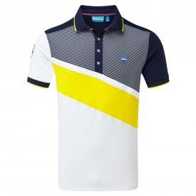 Bunker Mentality Diagonal Colour Block Polo Shirts