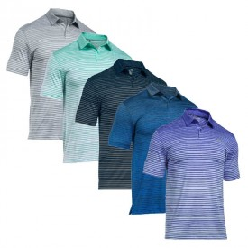 Under Armour Coolswitch Trajectory Stripe Polo Shirts