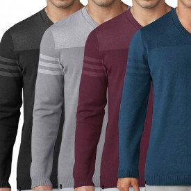 Adidas Club 3 Stripes V-Neck Sweaters
