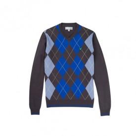 Lyle & Scott Argyle V-Neck Sweater
