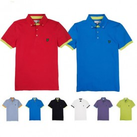 Lyle & Scott Button Down Collar Polos